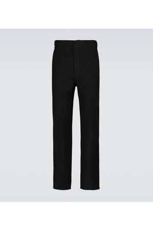 Ami Straight-fit wool and cashmere pants