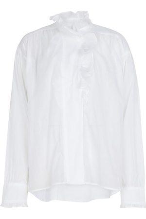 Isabel Marant Dame Bluser - Pamias ruffled cotton blouse