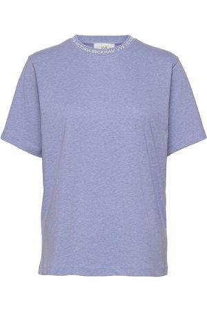 Victoria Victoria Beckham Logo Rib T-Shirt T-shirts & Tops Short-sleeved