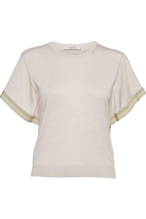 Dorothee Schumacher Surprising Attitude O-Neck 1/2 T-shirts & Tops Knitted T-shirts/tops Creme