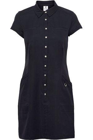 Daily Sports Lyric Cap/S Dress Dresses Shirt Dresses Svart