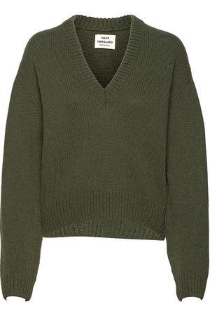 Mads Norgaard Dame Strikkegensere - Recycled Wool Mix Kevi Strikket Genser Beige