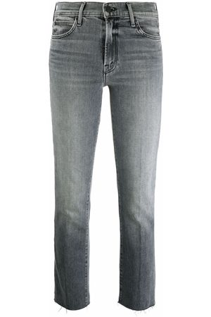 Mother Dame Straight - Mid-rise slim cropped jeans