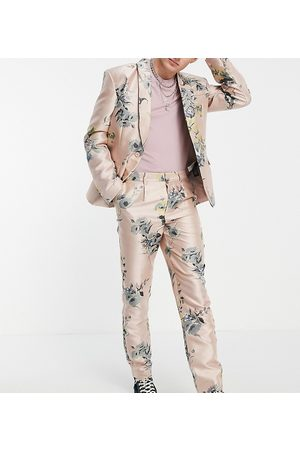 Reclaimed Inspired couture suit trouser in floral print-Pink