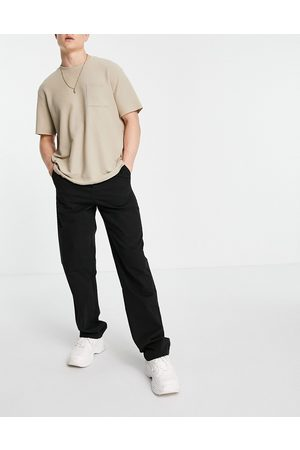 ASOS Relaxed chinos in black