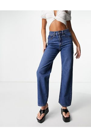 ONLY Hope wide leg jeans in mid blue