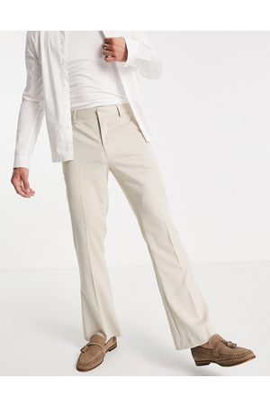ASOS Flare suit trousers in -Neutral