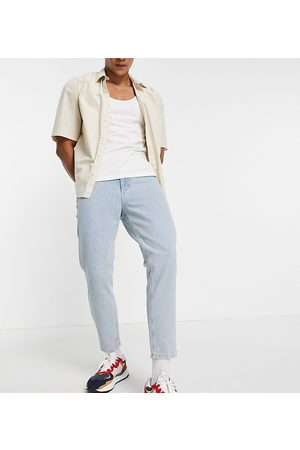 Reclaimed Inspired '89 tapered cropped jean in light stone wash-Blue