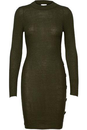 VILA Vimegan L/S Bodycon Knit Dress/Ka Knelang Kjole