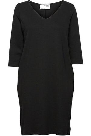 SELECTED Slfcaro-Tunni 3/4 Short Dress B Knelang Kjole