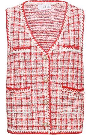 MANGO Louvre Vests Knitted Vests Rosa