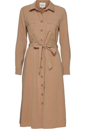 My Essential Wardrobe Mwiris Thelma Shirtdress Knelang Kjole Beige