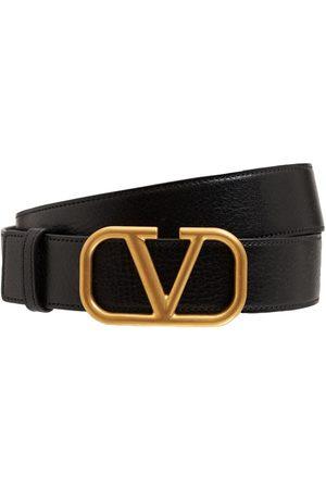 VALENTINO GARAVANI Herre Belter - 3.5cm V Buckle Leather Belt