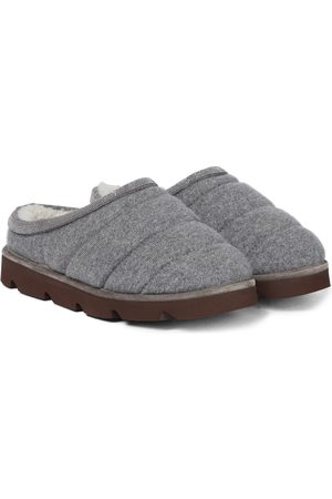 Brunello Cucinelli Cashmere and shearling slippers