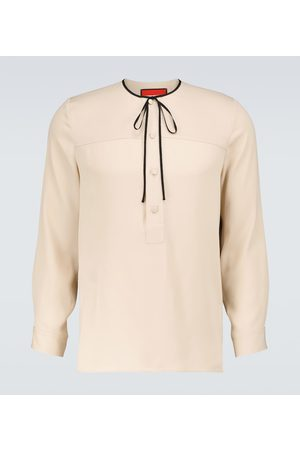Gucci Silk long-sleeved shirt