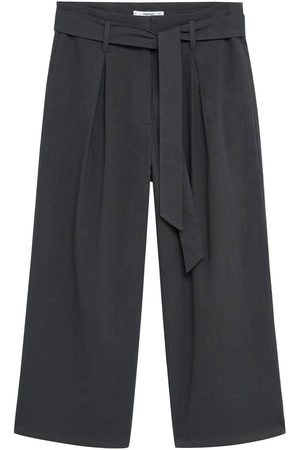 MANGO Plissert bukse 'Grey-H