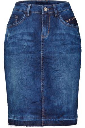 Cream Skjørt 'Patched denim Skirt