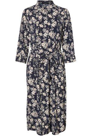 VERO MODA Blusekjoler 'VMDIANA 3/4 CALF SHIRT DRESS WVN DA