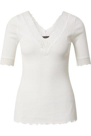 Rosemunde Skjorte 'Organic t-shirt v-neck regular 3/4s w/lace