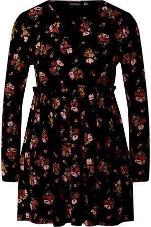 Boohoo Sommerkjoler 'FLORAL PRINT SMOCK DRESS