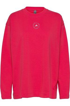 adidas Cotton Long Sleeve Tee W T-shirts & Tops Long-sleeved Rosa