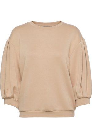 Moss Copenhagen Ima 3/4 Sweatshirt Sweat-shirt Genser Grå