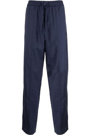 Emporio Armani Herre Chinos - High-waisted virgin wool trousers