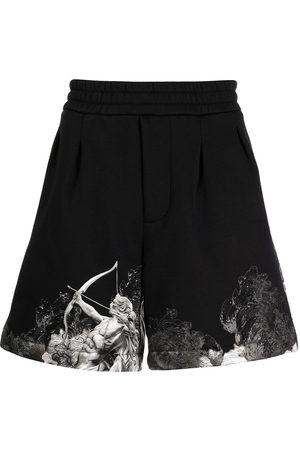 Emporio Armani Herre Bermudashorts - Cupid graphic-hem shorts