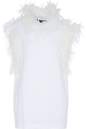 Dolce & Gabbana Dame Singleter - Feather-trimmed tank top