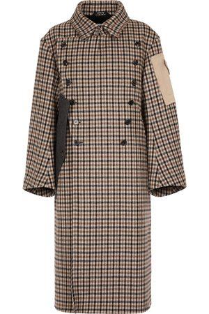 Maison Margiela Deconstructed checked virgin wool coat