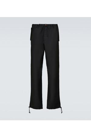 Maison Margiela Herre Chinos - Wool-blend drawstring pants