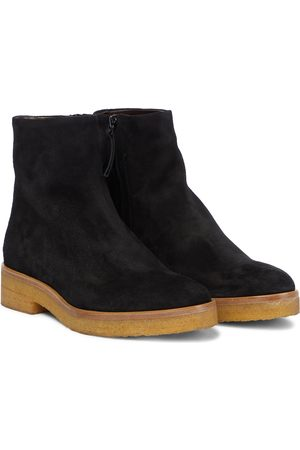 The Row Boris suede ankle boots