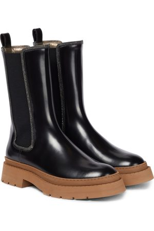 Brunello Cucinelli Dame Skoletter - Patent leather ankle boots