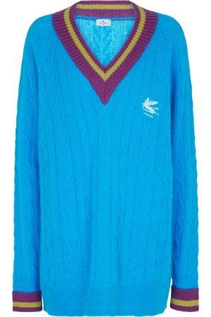 Etro Dame Strikkegensere - Mohair-blend sweater