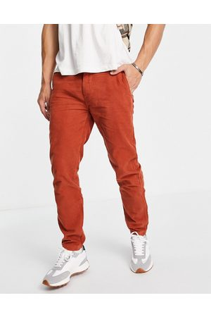 Levi's Herre Chinos - Levi's XX chino standard straight fit lightweight cord trousers in red