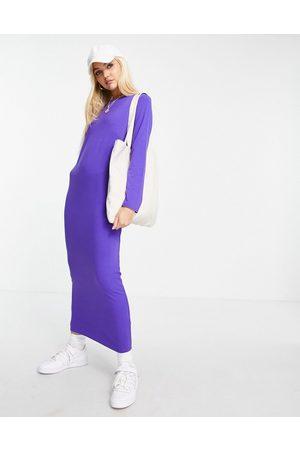 ASOS Long sleeve maxi t-shirt dress in purple