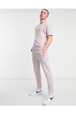 HUGO BOSS Athleisure Hurley side tape trackpants-Pink