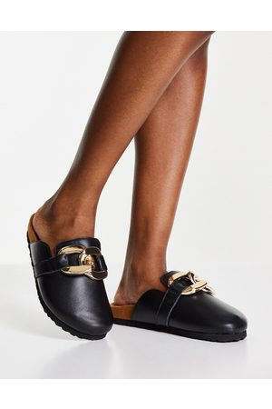 ASRA Dame Tresko - Fiscal clogs in black with chain detail