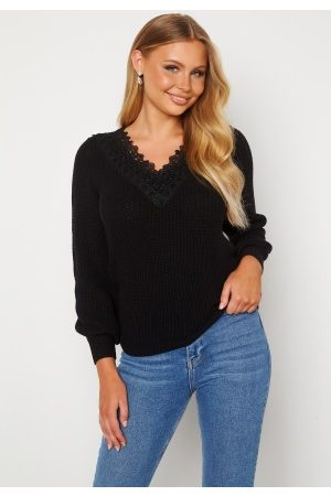 Happy Holly Wendy lace sweater Black 52/54