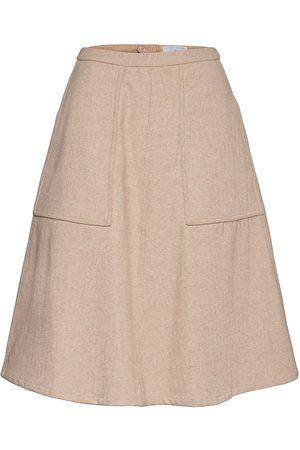 Cathrine hammel Tweed Midi Skirt W/Pockets Knelangt Skjørt
