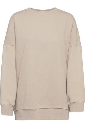 Object Dame Sweatshirts - Objsia Sweat Pullover Rep Sweat-shirt Genser Beige