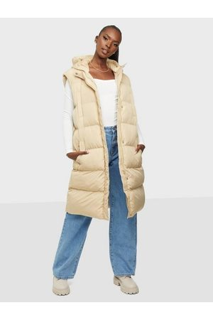 Missguided Recycled Longline Padded Gilet Stone