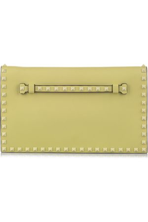 VALENTINO Pre-owned Rockstud Clutch Bag Leather Calf