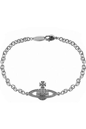 Vivienne Westwood Herre Armbånd - Mini Relief Chain Bracelet Silve