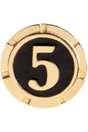 Maria Black Lucky Number Coin Gold Jewelry