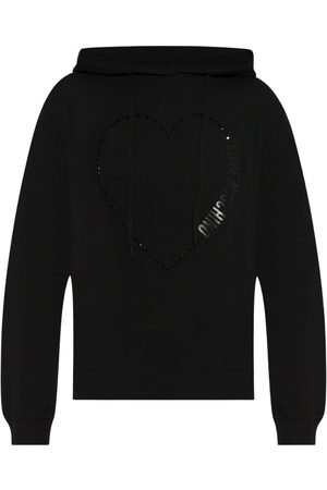 Love Moschino Dame Hettegensere - Hoodie with logo