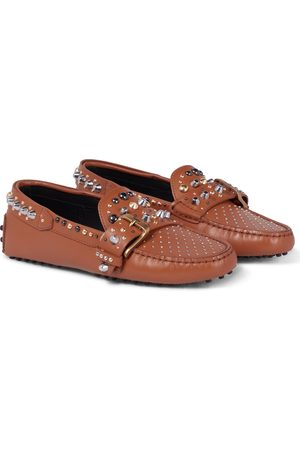 Tod's Gommino studded leather loafers