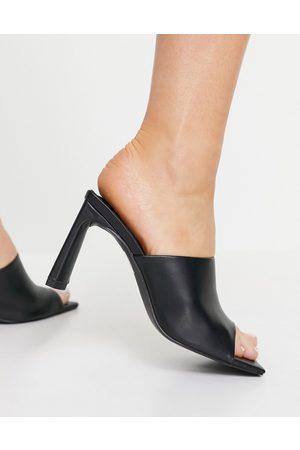 Public Desire Vice heeled mule sandals in black