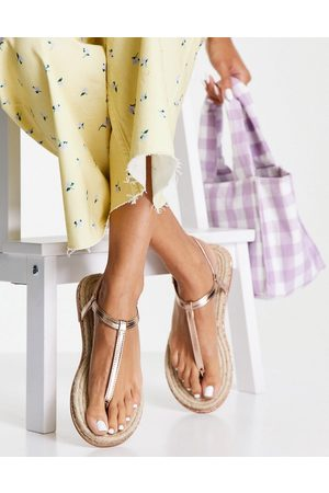 ASOS Dame Espadrillos - Jazmina diamante espadrilles sandals in rose gold