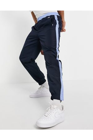 HUGO BOSS Herre Joggebukser - X Russell Athletic Janyl joggers with side stripe in navy